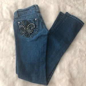 Miss Me Jeans Straight Leg Bling Pockets Size 24